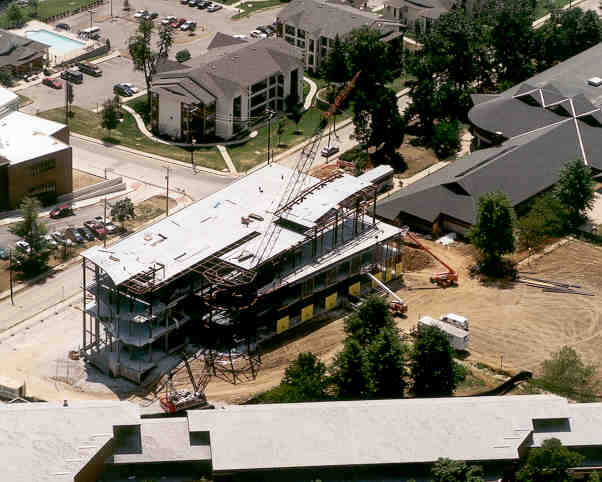 Emerson Library Construction August 2002