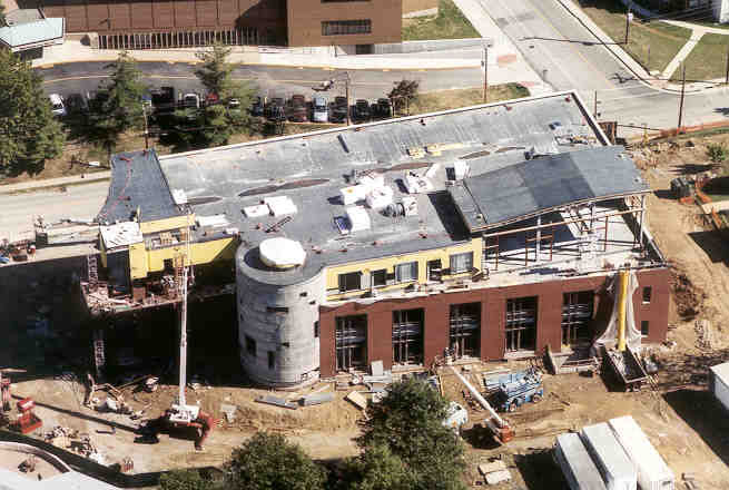 Emerson Library Construction October 2002