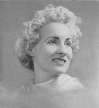 Black and white photograph portrait of Gloria Meder Kast