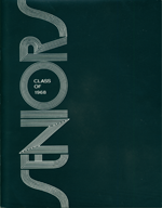 [Front cover from the Seniors 1968 publication.]