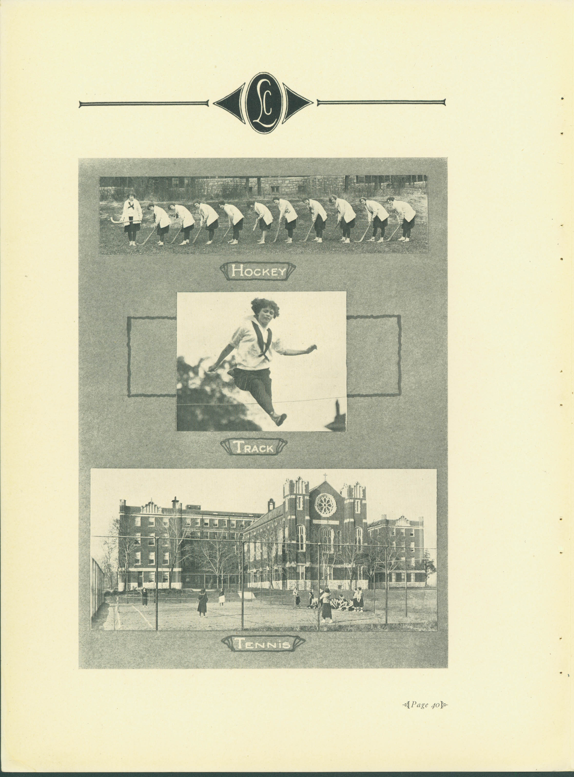 [Athletics page from 1924 Webster yearbook]