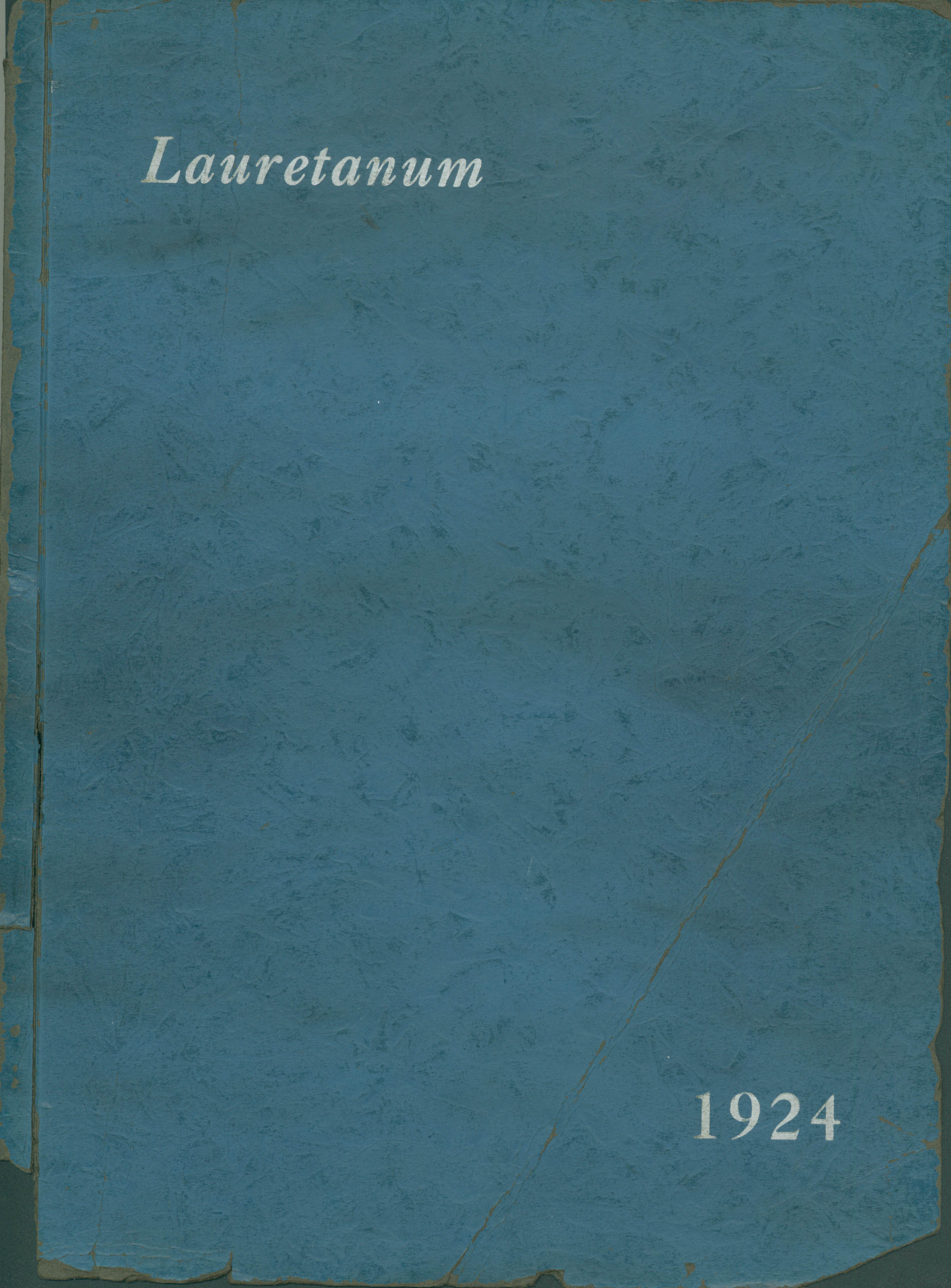 [Front cover from 1924 Webster yearbook]