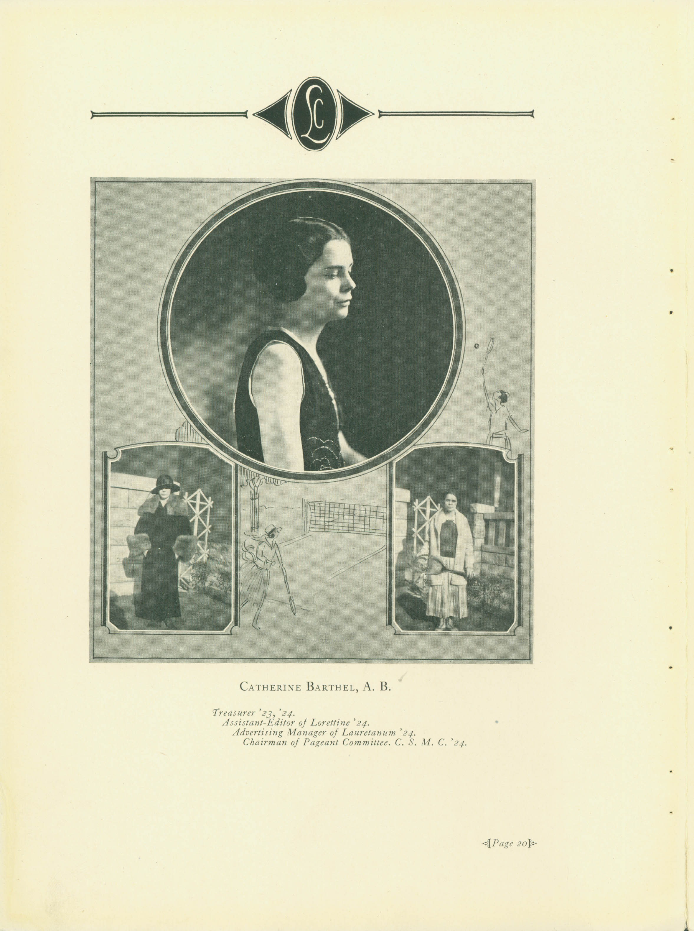 [Sample senior page from 1924 Webster yearbook]
