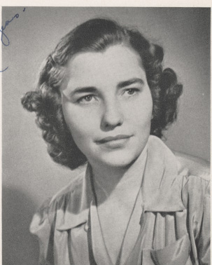Black and white photograph portrait of Catherine J. Carroll